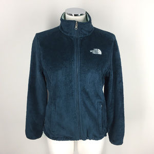 North Face S Fuzzy Osito Deep Teal Blue Fleece